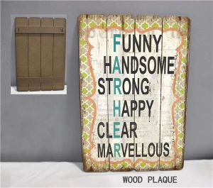 Handmade Wood Signs Home Decor Wholesale Wood Logo for Decorations pictures & photos