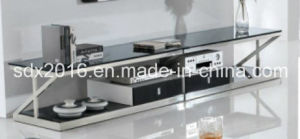 TV Stand / Living Room Furniture / Stainless Steel Table / Home Furniture / Modern Table / Glass Table / Tempered Glass Table Dg006 pictures & photos