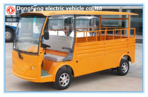 2 Passengers Electric Transportation Truck with Cargo Box pictures & photos