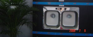 Kitchen Sink, Sink, Handmade Sink, Topmount Double Sink50/50 pictures & photos