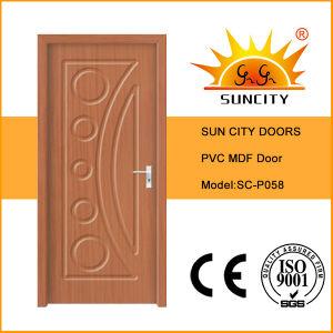 Good Price Single Oak Bedroom PVC Door Design (SC-P058) pictures & photos