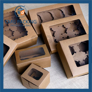 Brown Kraft Recycled Cupcake Display Box (CMG-cake box-004) pictures & photos