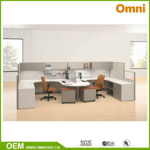 Double Office Cubicle; Two Person Classical Workstation (OMNI-AO2-111) pictures & photos
