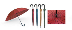 24 Ribs Manual Straight Umbrella with Different Designs (YS-R1082R) pictures & photos
