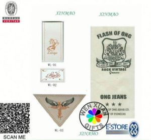 Custom Brand Garment Woven Water Label Logo Damask MOQ 1000 Pieces 100 USD pictures & photos