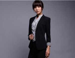 Wholesale or Bespoke Top Quality Classic Business Women Office Slim Fit Ladies Suits pictures & photos