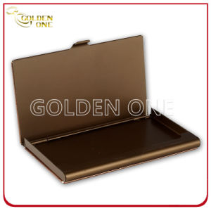High Qulaity Business Metal Cover Leather Name Card Holder pictures & photos