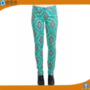 Factory OEM Women Fashion Casual Cotton Printing Pants Trousers