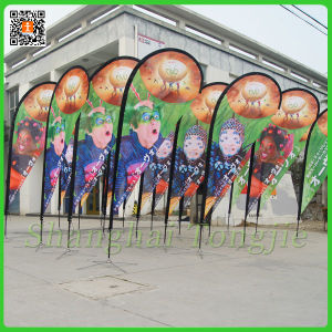 Single or Double Printing Teardrop Beach Flag (TJ-04) pictures & photos