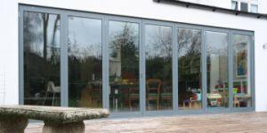 Light Weight Patio Aluminium Folding Doors for Exterior Balcony pictures & photos
