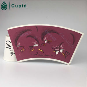 Disposable Popcorn Paper Cup Fan with Flexo Printing pictures & photos
