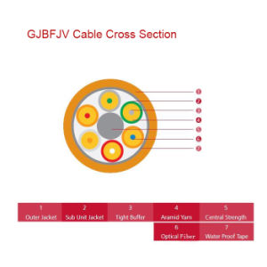 Breakout Tight Buffer Fiber Optic Cable (GJBFJV) pictures & photos