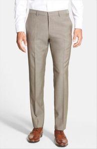 OEM Custom Design Men′s Flat-Front Non-Iron Dress Pants pictures & photos