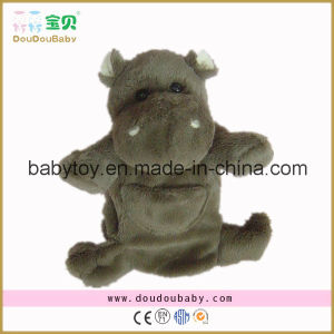 Soft and Stuffed Hippo Hand Puppet