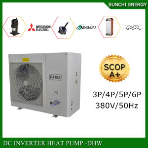 Europe Market Cold -20c Winter Floor Heating 200sq Meter House+Dhw 12kw/15kw/19kw No Ice Scroll Compressor R410A Evi Heat Pump pictures & photos