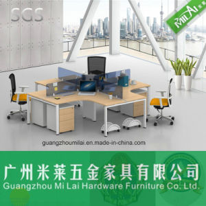 Modern Office Partition Design Staff Working Table with Moving Cabinet pictures & photos
