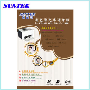 Suntek T07 A4 White Laser Transfer Water Slide Decal Paper pictures & photos
