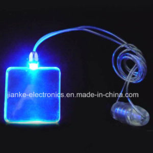 Promotional Square LED Glowing Necklace with Logo Imprint (2001)