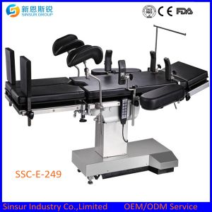 High Quality Radiolucent Hospital Electric China Cost Operating Room Table pictures & photos
