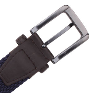 Leather and Alloy Buckle Elastic Braided Man Belt (RS-131247) pictures & photos