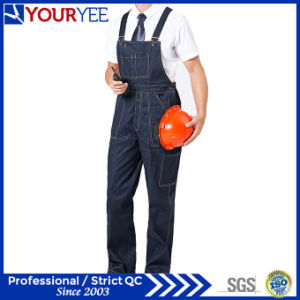 Customized Work Bib Overalls Jeans Workwear Bib and Brace (YBD110) pictures & photos