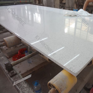 Building Material White Artificial Quartz Stone for Bench Top pictures & photos