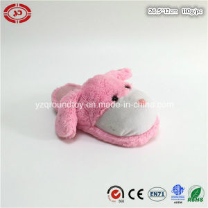 Pink Plush Dog Head Soft Toy Cute Fancy Custom Slipper pictures & photos