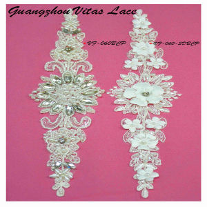 Colorful Beading Sequined and Corded Lace Motif for Wedding Dress From Factory Vf-060