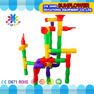 Children Plastic Desktop Toy Trumpet Building Blocks