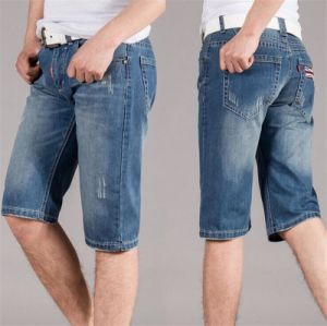 Men′s Factory Wholesale Jeans Pants Spring and Summer High-Grade Casual Cotton Medium Pants pictures & photos