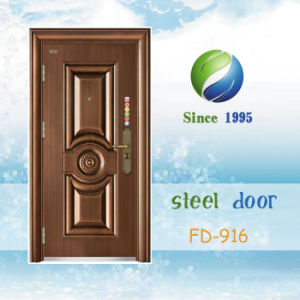 China Newest Develop and Design Single Steel Security Door (FD-916) pictures & photos