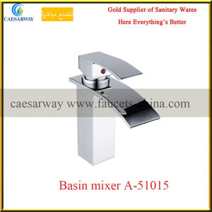 Waterfall Single Handle Sanitary Ware Bathroom Basin Water Mixer pictures & photos
