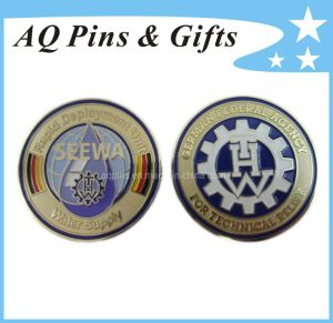 Brass Soft Enamel Coin in Gold Plating pictures & photos