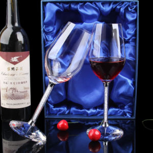 High Quality Customized Promotion Gift Diamond Crystal Red Wineglass pictures & photos