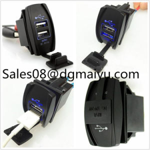 Switch Style DC 12V 3.1A Dual USB Charger pictures & photos