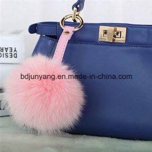 Woman Bag Trimming Fox Fur Pompons pictures & photos