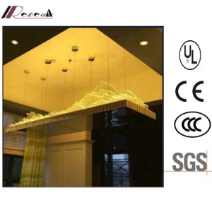 Hotel Lobby Decorative Rectangle Glass Tube Chandelier pictures & photos