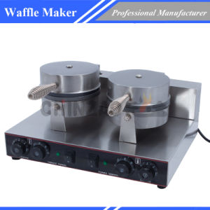 Double Commercial Waffle Maker Snack Machine Wxl-2 pictures & photos