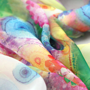 Anti-UV 100% Microfiber 30d Chiffon Printing Beach Multifunctional Shawl Scarf pictures & photos