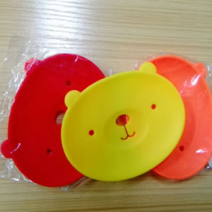Cute Cartoon Bear Silicone Dish Mat Box Holder for Soap pictures & photos