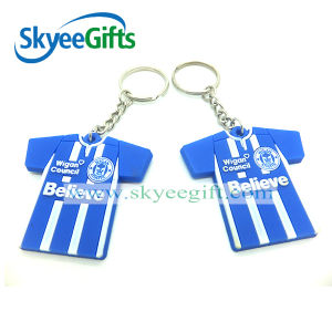 Soft Round Shape PVC Keychain for Promotion Gift pictures & photos