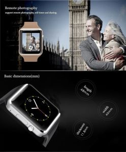 Popular Smart Watch GSM with Camera SIM Card Slot pictures & photos