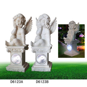 Polyresin/Resin Craft Angle Figurine with Solar Light for Garden Decoration pictures & photos
