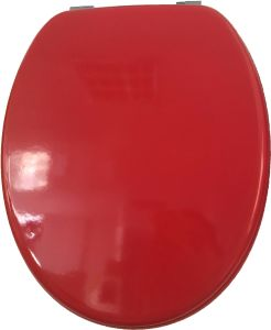 Beautiful Red MDF Toilet Seat pictures & photos