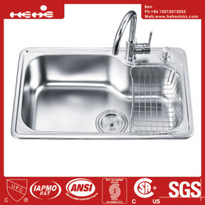 Stainless Steel Drop in Kitchen Sink, Stainless Steel Top Mount Single Bowl Kitchen Sink pictures & photos