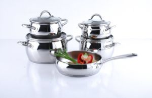 Stainless Steel Cookware Set (apple shape) pictures & photos