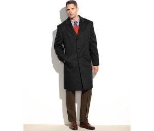 Men′s Cashmere Button Closure Long Coat pictures & photos