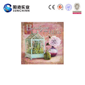 Wooden Board for Wall Decoration with Flower Picture