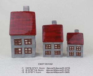 Christmas Gift for Kids Ceramic House with Light pictures & photos