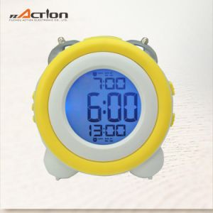 Twin Bell Digital Alarm Table Clock with LED Backlight pictures & photos